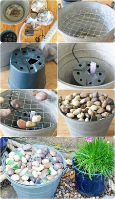 fountain diy Looking to add a water feature to your yard? Discover simple and easy do it yourself water feature projects and ideas. Diy Garden Fountains, Diy Fountain, Indoor Water Fountains, Tabletop Fountain, Indoor Fountain, Homemade Water Fountains, Wall Fountains, Rock Fountain, Outdoor Fountains