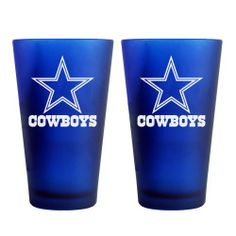 6772b0760469 Whatever you're drinking, it always tastes better in a Dallas Cowboys pint  glass.
