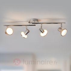 Plafonnier avec spots LED Charley à 4 lampes, référence 9945174 - Collection Charley : des spots pour toute la maison à petit prix chez Luminaire.fr !