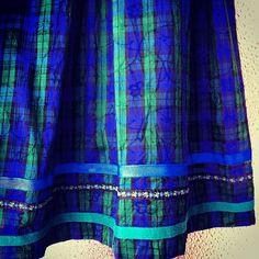 チェックのチロルロングスカート(w:free l:76cm)