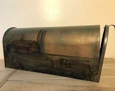 Hand painted treasures for your home. by SaratogaArtnCraft on Etsy Hope Chest, Mailbox, Montage, Storage Chest, Hand Painted, Etsy, Unique Jewelry, Handmade Gifts, Tiny Homes