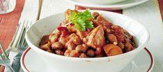 Chili con makkara Kung Pao Chicken, Ethnic Recipes, Food, Chili Con Carne, Essen, Meals, Yemek, Eten