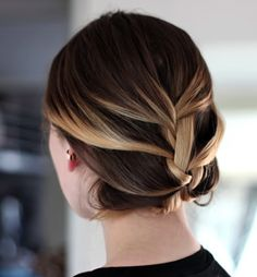 A pretty updo keeps hair off your neck during humid days.