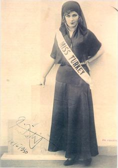 Turkey - Turkije (Miss Turkey, 1936 Keriman Halis)
