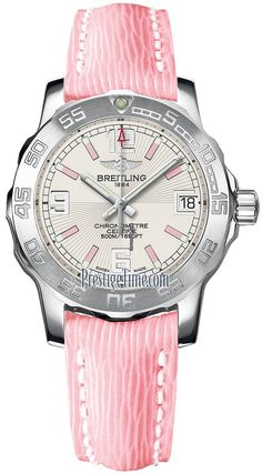 Breitling Colt 33 $2,132 #Breitling #watch #watches #chronograph steel case quartz movement calskin bracelet