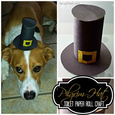 Pilgrim Hat Toilet Paper Roll Thanksgiving Craft For Kids #Recycled art project | SassyDealz.com
