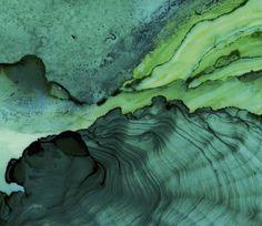 Undercurrent Emerald Ink: Framed Art Print Ocean Art Surf