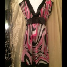 "Selling this ""Agaci Too pink and black sheer dress/top."" in my Poshmark closet! My username is: khromano. #shopmycloset #poshmark #fashion #shopping #style #forsale #Agaci #Dresses & Skirts"