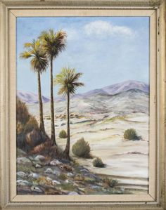 John N. Cadby (American, 20th Century)   Capo Auction   Lot 39   Dessert Landscape. Oil on canvas. Signed and dated 1953 (l.r.). Canvas size 24 x 18 inches. Framed.