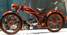 T. E. Lawrence, better known as Lawrence of Arabia, owned several of these machines and died from his injuries after crashing on one in 1935... Another beautiful bike is this Imme (Germany), with a single side suspension: