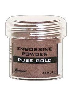 NEW! Embossing Powder Rose Gold Metallic