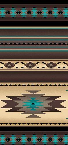 Native Saddle Blanket-Sepia - Love this color scheme Southwestern Fabric, Southwest Decor, Southwestern Decorating, Southwest Style, Native American Decor, Native American Patterns, Tribal Fabric, Geometric Fabric, Indian Blankets