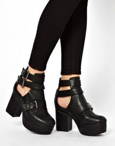 Image 3 ofASOS AGAINST THE CLOCK Cut Out Ankle Boots