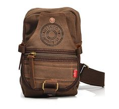 Aibag Vintage Unisex Canvas Shoulder Sling Chest Bag Rucksack *** This is an Amazon Affiliate link. Details can be found by clicking on the image.