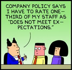 Dilbert, June 20, 2013, on company policy (crop; click through for full comic strip)