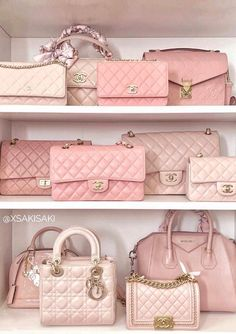 Chanel, Louis Vuitton And Dior Rose Bags – Purses And Handbags Totes Luxury Purses, Luxury Bags, Luxury Handbags, Fashion Handbags, Fashion Bags, Fashion Purses, Chanel Fashion, Fashion Ideas, Fashion Trends