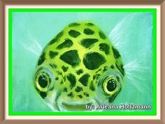 Green Spotted Puffer Fish Art Print featuring the painting Puffy by Arleana Holtzmann Fish Artwork, Fish Wall Art, Puffer Fish Art, Animals Beautiful, Cute Animals, Giraffe Painting, Koi Painting, Painting Tips, Watercolor Painting