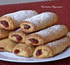 Marmalade filled pastries in Polish Baking Recipes, Cake Recipes, Dessert Recipes, Other Recipes, Sweet Recipes, No Bake Desserts, Delicious Desserts, Cooking Cookies, Sweet Pastries