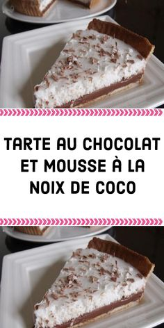 Easy Desserts, Delicious Desserts, Dessert Recipes, Coconut Mousse, Desserts With Biscuits, Ice Cream Floats, Cake & Co, French Food, Caramel Apples