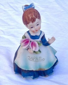 Vintage Lefton Figurine Girl Decorative Hand painted Collectable China KW4200 #Lefton