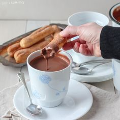 European Style Hot Chocolate | Baking a Moment. This hot chocolate is amazing. So rich and creamy.