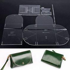 Wuta Mini Lady Clutch Handbag Leather Template Acrylic Pattern Craft Tool 958