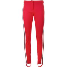 Gucci high waisted stirrup trousers (10,595 MXN) ❤ liked on Polyvore featuring pants, capris, bottoms, gucci, red, red pants, equestrian pants, high waisted pants, high-waist trousers and red skinny pants