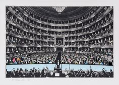 Richard Hamilton (1922-2011). La Scala Milano (L.71) Photo-etching with screenprint in colours, 1968, signed in pencil, numbered 16/65, etching printed by the artist and Giorgio Upiglio at Grafica Uno, Milan; screenprinted by the artist and Chris Prater at Kelpra Studio, London, published by Petersburg Press, London, on wove paper, with full margins, 254 x 372 mm (10 x 14 5/8 in) Lot 166 in 'Editions and Works on Paper' sale at Dreweatts & Bloomsbury Auctions London saleroom -2 July 2015