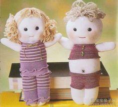 muñecas de calcetines漂亮布娃娃-袜子娃娃制作教程