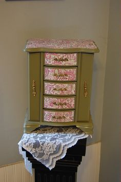 Paisley Shabby Chic Jewelry Box Mothers Day by TheVintageArtistry, $95.00
