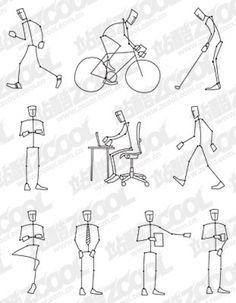 stick figure styles - Google Search