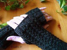 Fingerlose Handschuh.....stricken - YouTube