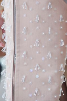 Delpozo at New York Fashion Week Spring 2015 - Details Runway Photos Embroidery On Kurtis, Kurti Embroidery Design, Couture Embroidery, Hand Embroidery Stitches, Embroidery Fashion, Embroidery Dress, Beaded Embroidery, Fabric Embellishment, Lesage