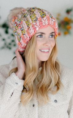 Knitting Patterns Hats Chunky Yarns 46 New Ideas Knitted Blankets, Knitted Hats, Crochet Hats, Lace Knitting, Knitting Patterns, Knitting Stitches, Loom Scarf, Easy Knit Hat, Simply Knitting