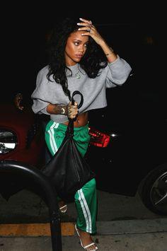 6b42e8d7b66290 Splurge  Rihanna s Los Angeles Isabel Marant Striped Green Patsy Pants
