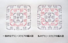 Crochet Granny, Crochet Motif, Knit Crochet, Crochet Patterns, Crochet Diagram, Handicraft, Bullet Journal, Sewing, Knitting