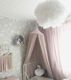 Such a graceful girl\'s room with unicorn wallpaper by Michael Mattsson  @pauliisan #kidsinteriors_com - - - - #kidsinteriors #kidsinterior #kidsroom #childrensroom #girlsroom #girlsdecor #kidsdecor #decorforkids #kidsdesign #kidsroomdecor #kidswallpaper #kids #barnrum #childrenswallpaper # #barnerom #kinderkamer #kinderzimmer #chambreenfant #chambrefille #interiors #habitacioninfantil #interiordesign