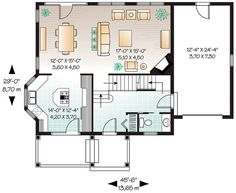 Victorian House Plan 65360 Level One