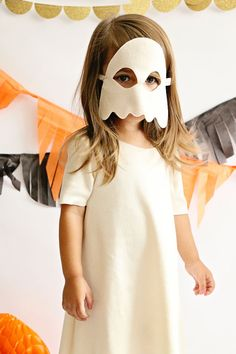 Your little ghost will look so cute its spooky!  All Opposite of Far Masks and Tails are handmade, to order, with much love and the highest of