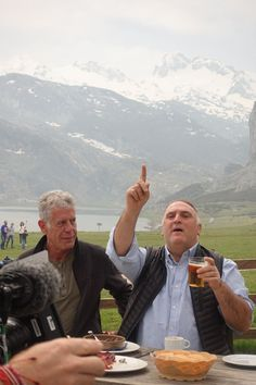 """In episode 2 of the final season of """"Parts Unknown,"""" Jose Andrés shows Anthony Bourdain his hometown of Asturias, Spain. Anthony Bordain, Anthony Bourdain Quotes, San Mamés, Asturias Spain, Parts Unknown, When I Die, Last Episode, Season 12, Book Authors"""