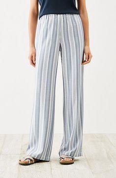 Soft rayon-twill pants