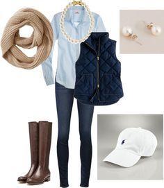 November 2 Stitch Fix - Puffer Vest perfect fall outfit