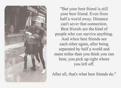best friend quotes distance - Google Search