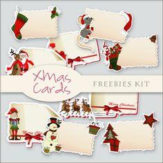 Scrap. DOT: Freebies XMas Cards Kit