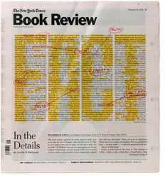 The New York Times Book Review, February 2012, July 2012 New York Times, New York Commissioned by Art Director: Nicholas Blechman Bespoke typefaces, design and illustration