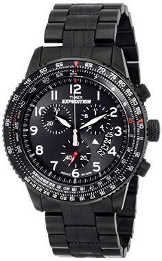 Timex Expedition Herren-Armbanduhr XL Chronographen Analog Edelstahl beschichtet T49825