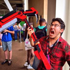 This is the best picture I've ever seen! RWBY & Markiplier