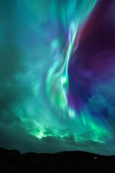 """birdsonqs: """"by Tor-Ivar Næss """" Aurora hits in the only opening in a sky filled with clouds seen at Kvænangsfjellet in Kvænangen, Troms Norway Image Nature, All Nature, Nature Photos, Beautiful Sky, Beautiful Landscapes, Beautiful Places, Northen Lights, To Infinity And Beyond, Belle Photo"""