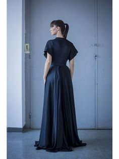 SOFT VISCOSE SATIN MAXI DRESS