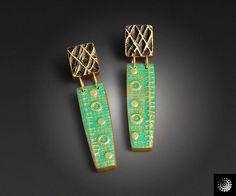 Textured Earrings - beautiful work by @Jennifer Wilkerson Welker